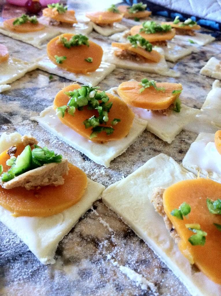 Galletas de boniato o camote, cómo hacer galletas de boniato o camote, aperitivo vegano, receta vegana de galletas de boniato.