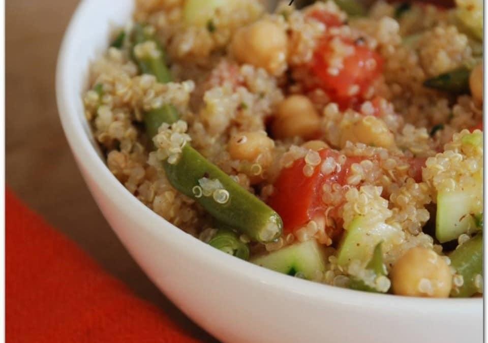 Ensalada fría de quinoa