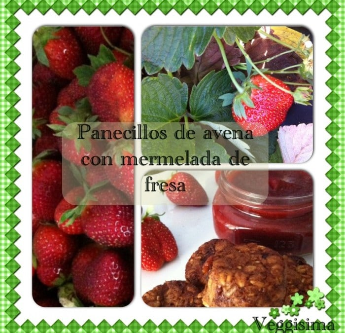 Panecillos de avena con mermelada de fresa