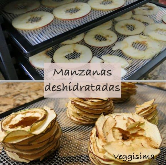 Manzanas deshidratadas o chips de manzana