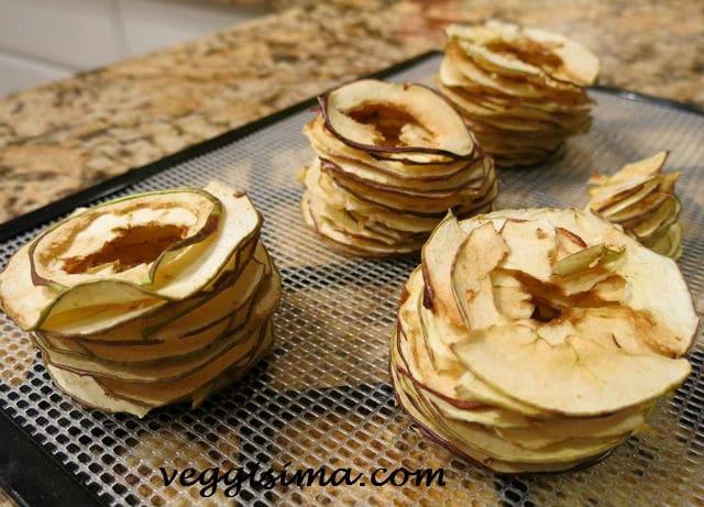Cómo deshidratar manzanas en casa, deshidratacion de manzanas, manzanas deshidratadas caseras, manzanas secas, manzanas deshidratadas para snack