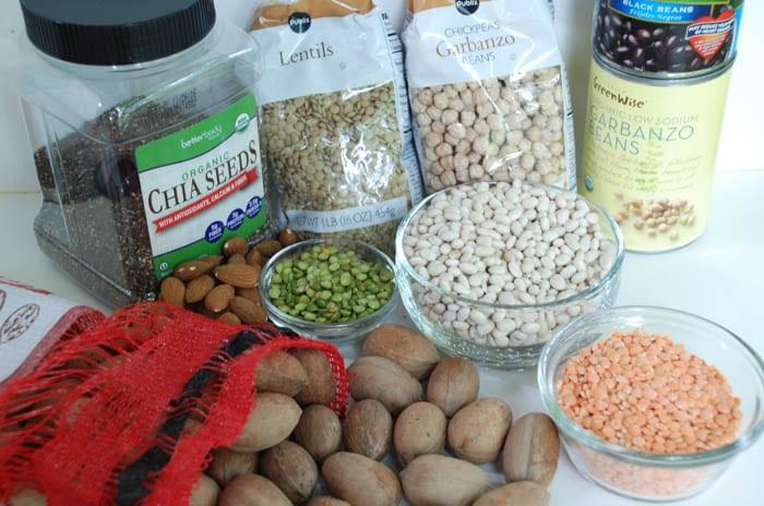 fibra dietética, nutrición vegetariana, alimentación basada en plantas,