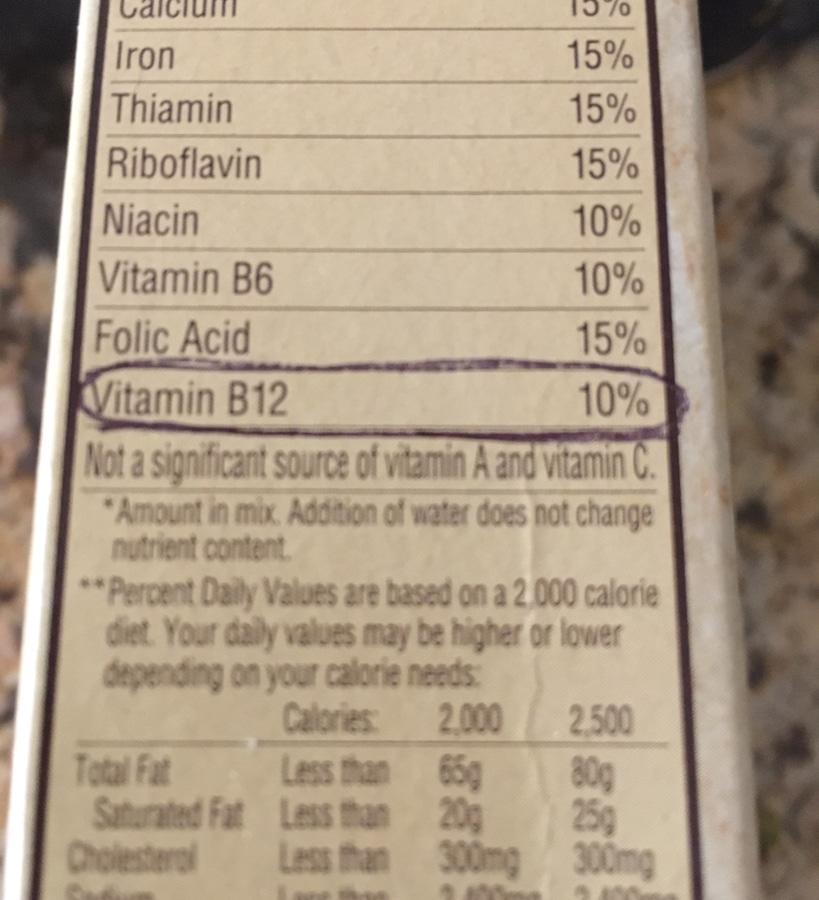 vitamina b12 en una  dieta vegetariana, vitamina B12, dieta vegetariana,